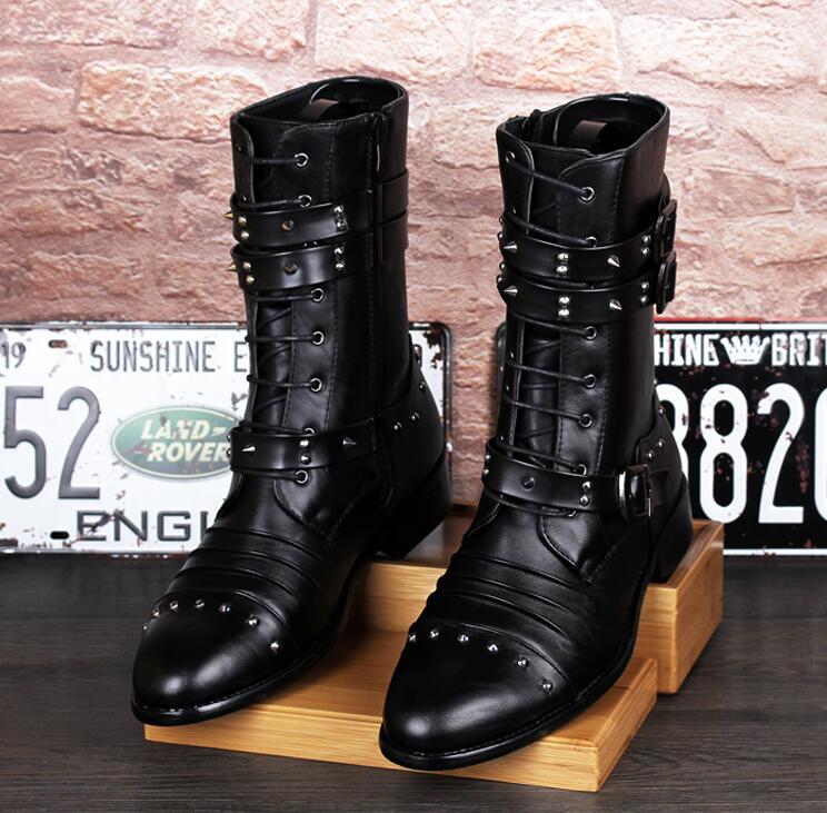 Online Get Cheap Mens Gothic Boots Aliexpress Com
