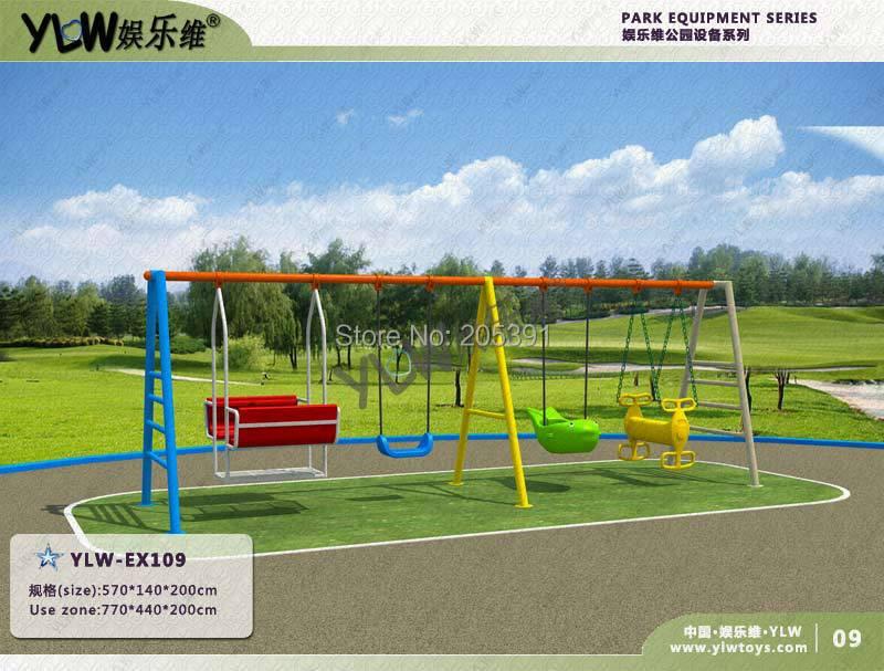 Parkschaukel, Gartenschaukel, Ausstattung für Freizeitparks