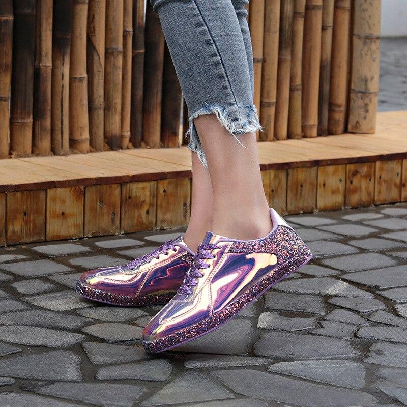 100% QualitäT Frauen Mode Schuhe Damen Flachen Boden Spitze Damen Sport Schuhe Schwarz Pu Leder Frauen Schuhe Sport Schuhe Damen Einen Einzigartigen Nationalen Stil Haben