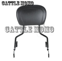 Seat Cover Motorcycle Black Sissy Bar Upright Passenger Backrest W Pad For Harley Touring Street Glide