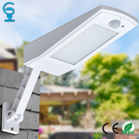 Gitex Outdoor 48 LED Solar Light Waterproof Auto PIR Motion Sensor Solar Wall Light Adjustable Solar Lamp For Garden Lighting