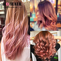 BQ HAIR 8A Mink Rose Gold Fashion Color Indian 100% Human Ombre Hair Extensions 3 Bundles Body Wave Perruque Cheveux Humain Soft