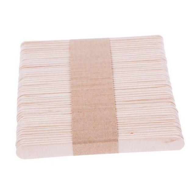 10/50 Stks Houten Waxen Wax Spatel Tong Wegwerp Bamboe Stokken Ontharingscrème Stick Voor Waxen Body Haar Care
