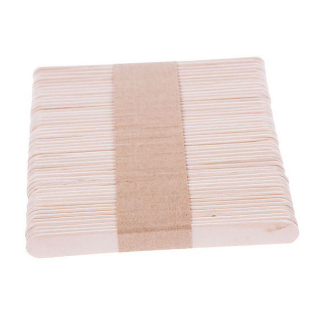 10/50Pcs Wooden Waxing Wax Spatula Tongue Disposable Bamboo Sticks Hair Removal Cream Stick For Waxing Body Hair Care