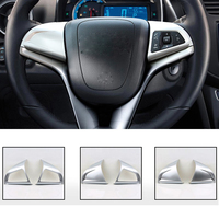 2016 ABS 2pcs Set Car Styling Steering Wheel Sequins Cover Decorative Frame Sequins Cover For Chevrolet