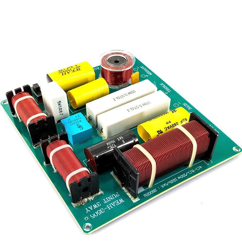 2PCS KTV Professional Speaker 3 Way Audio Frequency Divider loudspeaker 3 Unit Crossover Filters DIY 150W For 12 inch Speaker