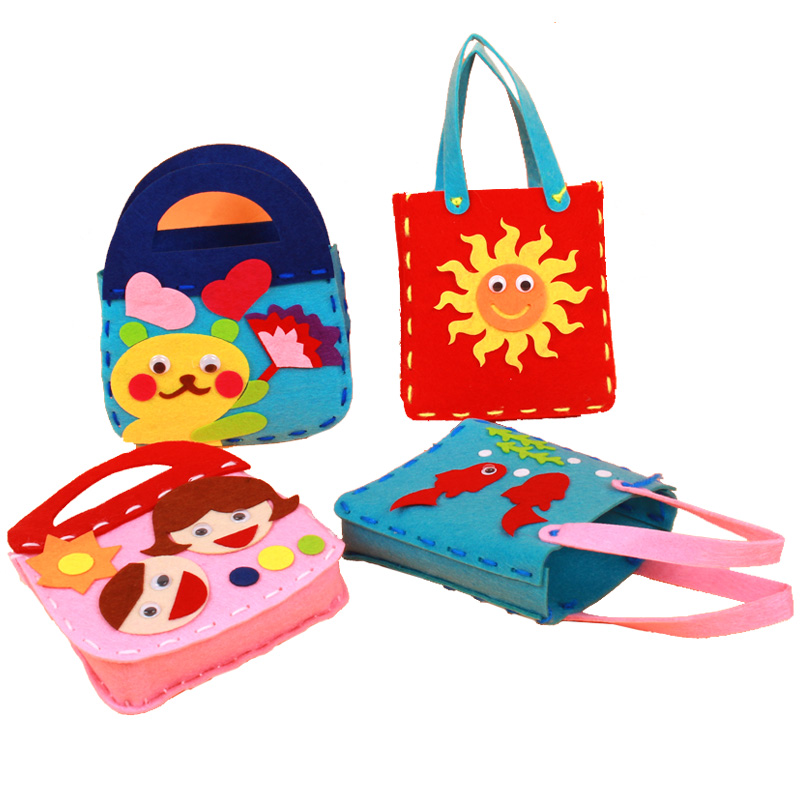 Girls Nonwoven DIY Handbag Kids Handmade Toy Bag Children Educational Handwork In Costumes Accessories From Novelty Special Use On Aliexpress