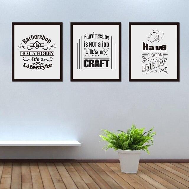 Lustige Barbershop Poster Leinwand Malerei Bilder Haben Eine Grosse Haar Tag Friseur Shop Schonheit Salon Wand Kunst Dekoration