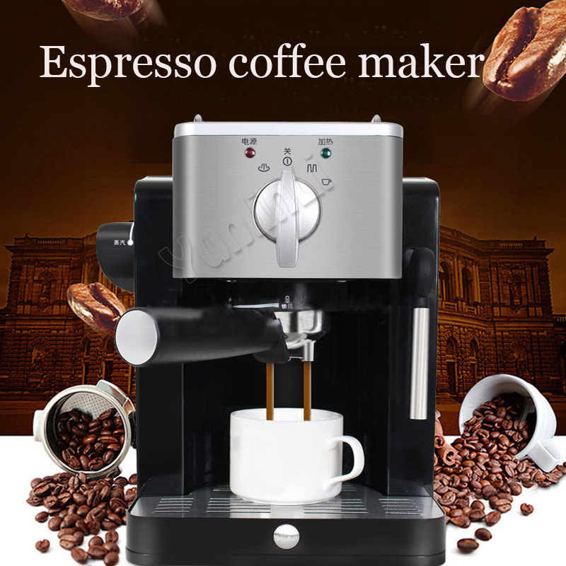 Semi Automatic Espresso Coffee Machine Home Coffee Maker Espresso Coffee Pump Coffee Makers Espresso Machines TSK-1827RA 15bar