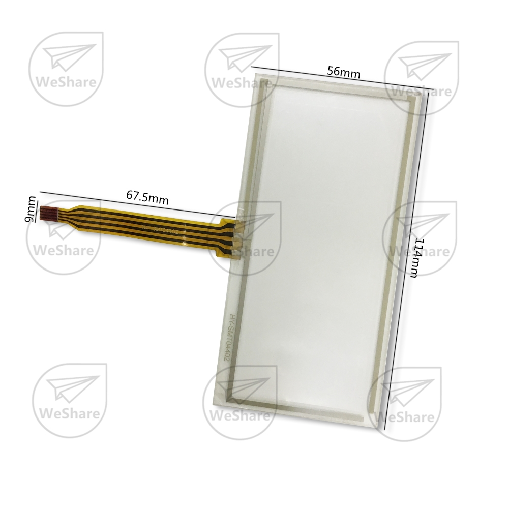 ФОТО Touch Screen 114x56mm 5 Wire Resistive Glass Panel Digitizer 114*56mm