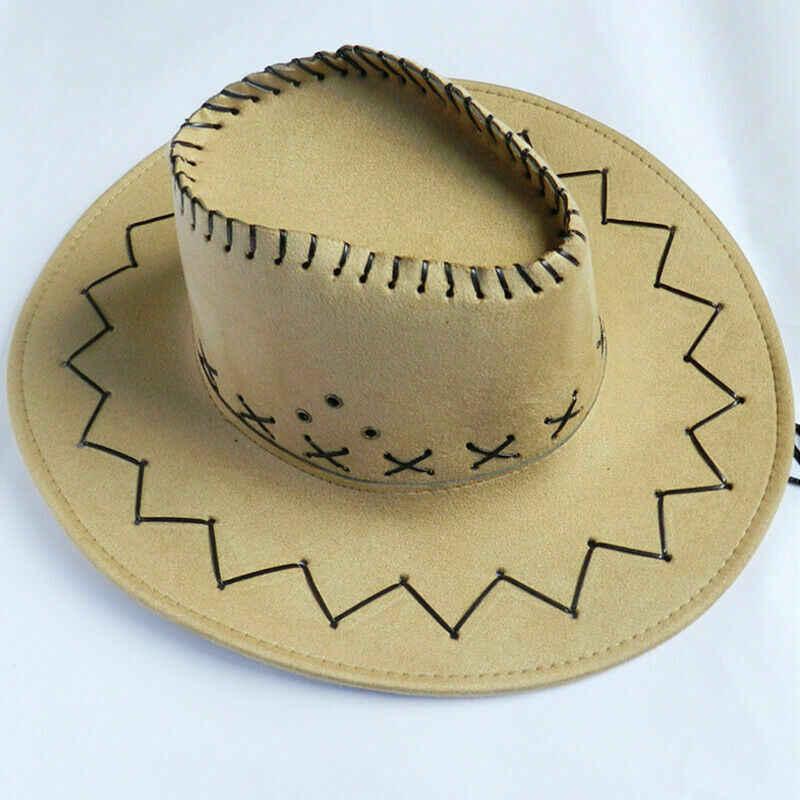 新しい女性男性レトロ西洋カウガールカウボーイキャップヘッド磨耗野生西帽子ユニセックスファッションキャップ