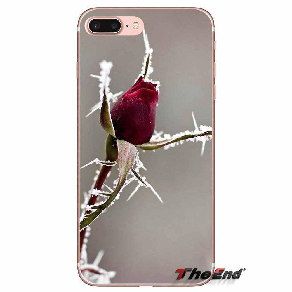For Huawei G7 G8 Ascend P7 P8 P9 Lite Honor 4C 5X 5C 6X Mate 7 8 9 Y3 Y5 Y6 II Pro  Sexy Winter cold Frozen Rose Silicone Case