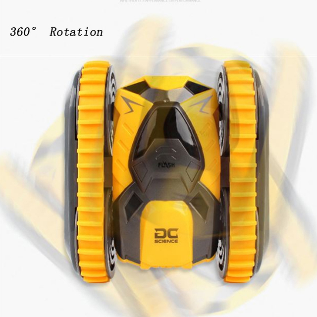 RC Car Mini Stunt Two-Side Drift Buggy Car 2.4G Crawler Roll Radio Remote Control Car 360 Rotation Tumbling Vehicle Boy Toy Gift 6