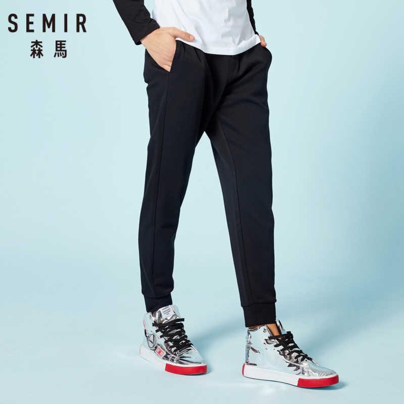 SEMIR, pantalones de chándal para hombre con bolsillos inclinados, pantalones deportivos con cordón de ajuste, cinturilla, Ribbing en la cintura y el dobladillo