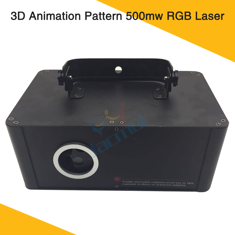 3D Animation Pattern 500mw RGB Laser Projector DMX Control For Wedding Home Party Event Night Club Show