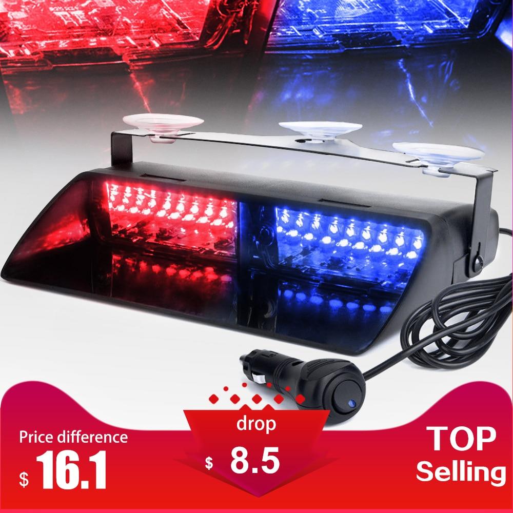 16 LEDs 18 Blinkende Modi 12 v Auto Lkw Notfall Flasher Dash Strobe Warnung Licht Tagfahrlicht Flash Led Polizei lichter