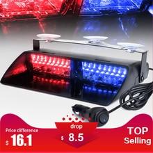16 светодио дный LED s 18 мигающих режимов 12 В в автомобиль Грузовик аварийный мигалка тире стробоскоп Предупреждение свет день бег вспышка светодио дный светодиодные полицейские огни