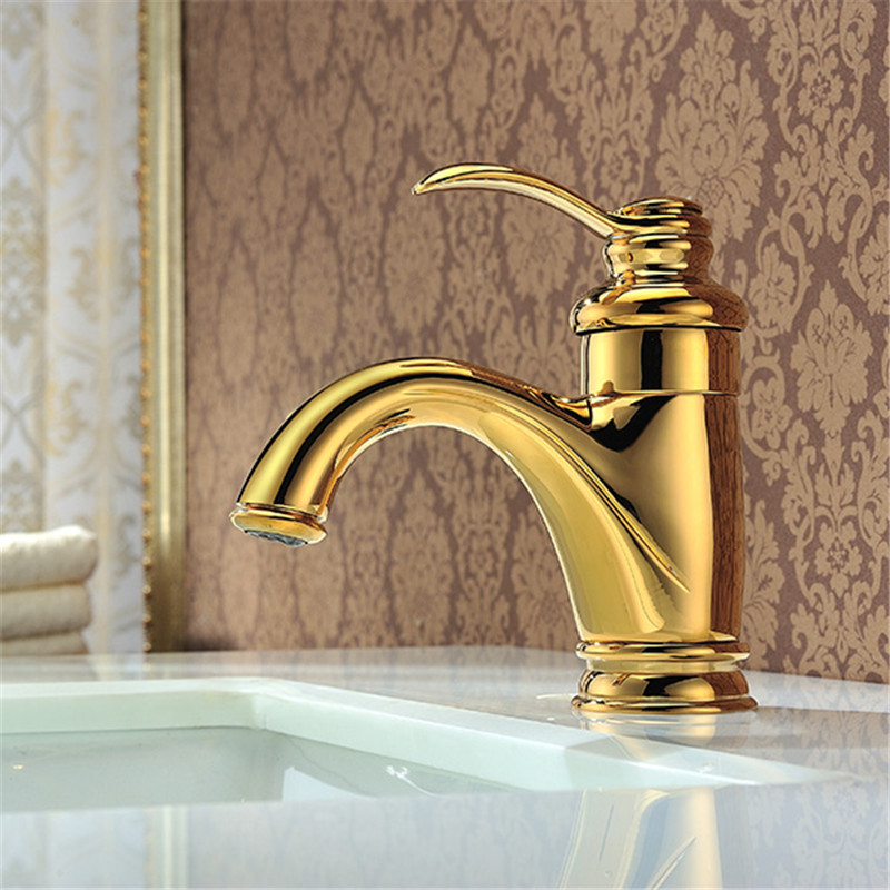 Robinets dorés salle de bains cuisine bassin évier mitigeur Noble magnifique