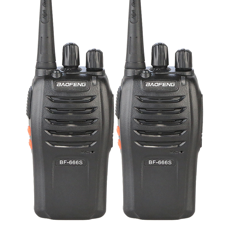 100% Original BAOFENG BF-666S UHF 400-470MHz Professional Portable Two Way Radio Baofeng BF 666S Walkie-Talkie