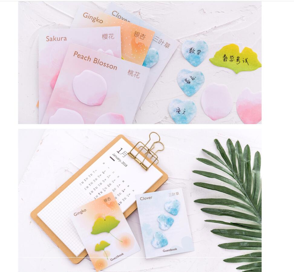 40pcs/lot Cute mini flower series design Sticky note Cute memo pad Office accessories post it memos Stationery school supplies