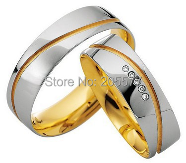 luxury custom gold color health anniversary wedding bands Bridal Engagement Rings jewelry fashion rings sets for couples цена 2017