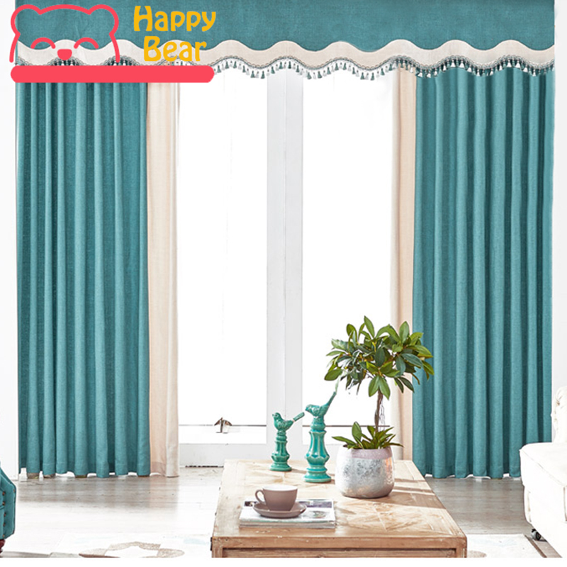 Happy Bear Blackout Curtain for Window Living Room Curtains Chenille Thicken Curtain Home Decorative Thermal Insulation Curtain