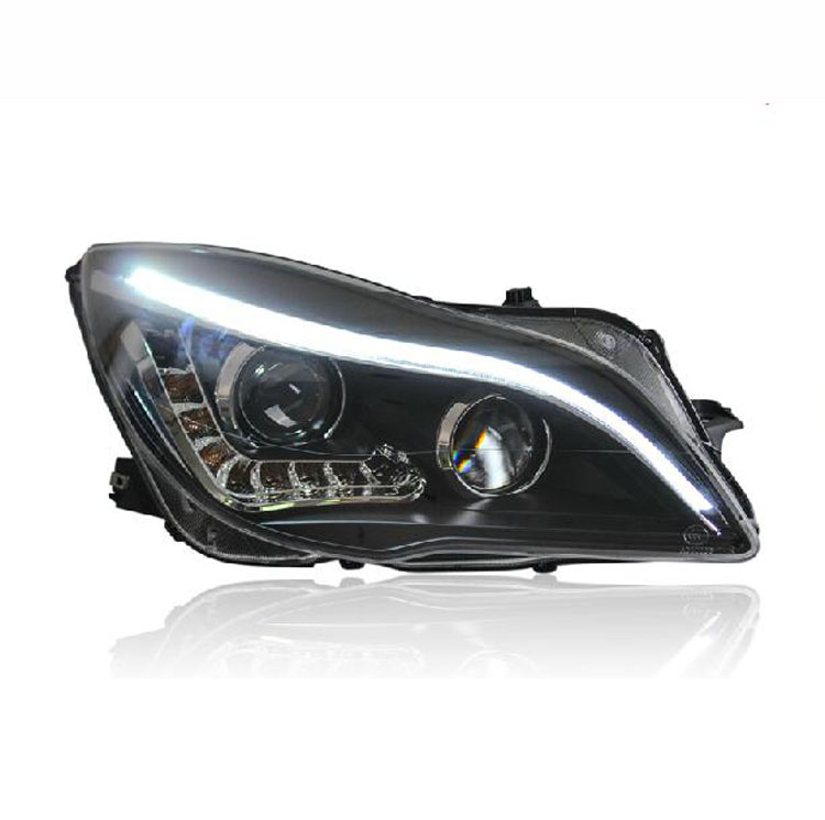 Ownsun New Eagle Eyes LED DRL Bi-xenon Projector Lens Headlights For Buick Regal 2014 ownsun new eagle eyes led drl bi xenon projector lens headlights for toyota vios 2014 2016