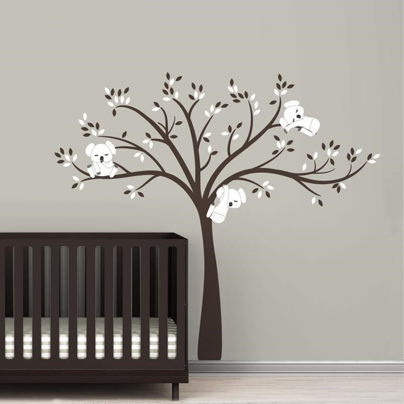 220x196cm Large Koala Tree Wall Decals For Baby Kids Bedroom Wall Stickers  Waterproof Removable Vinyl Wallpaper Poster D456C