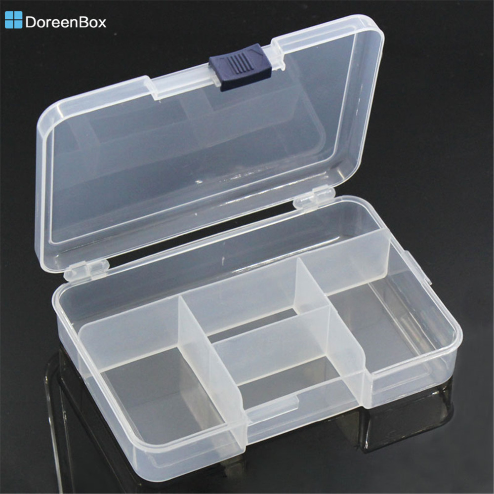 Doreen Box Hot Plastic Beads Rhinestone Box Storage