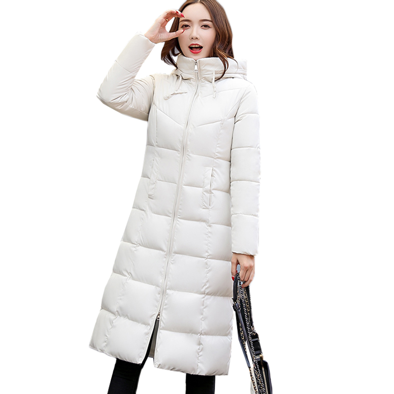 Winter Coat Thickened   Parka   Women Long Down Cotton Jacket Ladies Hooded Outerwear Plus Size 5XL 6XL Cotton Padded Jacket Coat