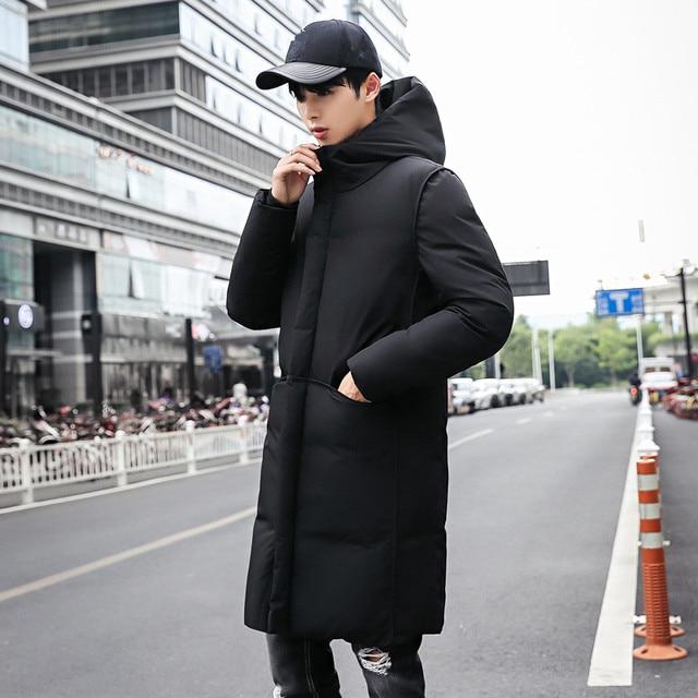 2018 nuevo abrigo de invierno grueso de la marca de ropa de los hombres  negro sólido ed2180b3d7e6