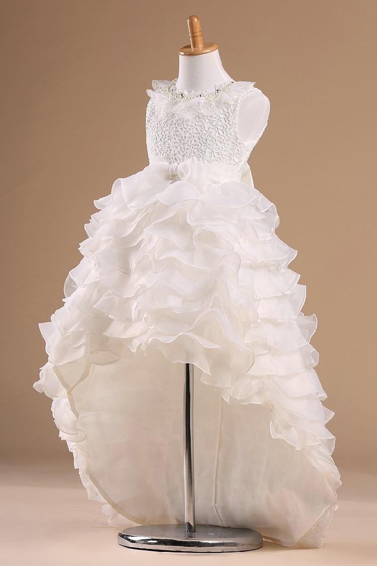 White Princess Children Flower Girl Dresses For Weddings Kid Girls ...