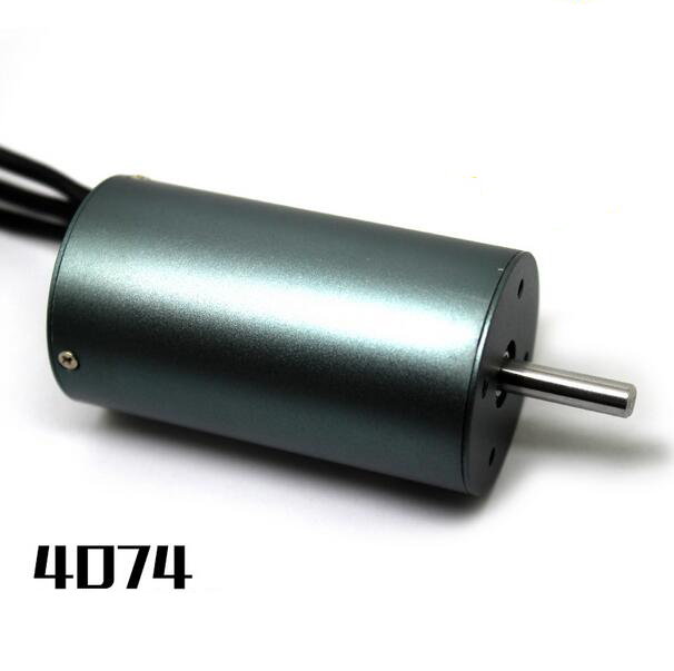 High quality 4074 four pole brushless motor for 1/8 RC Car Buggy Monster Truck 1000mm RC Boat 1400KV стоимость