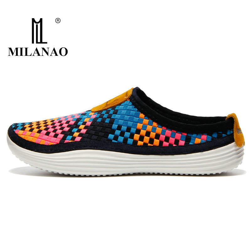 2017 MILANAO New Men & Women s Running Shoes , Breathable Weaving Walking Boy Girl Lady Outdoor Candy Color Lazy Light Sneakers
