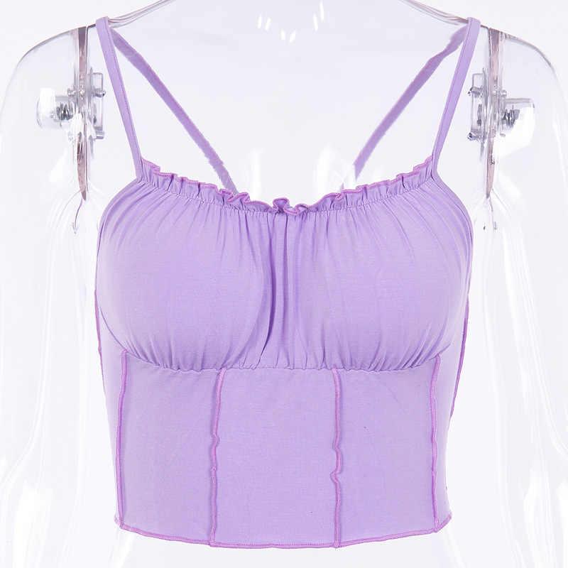 b152f3bde94335 ... Sexy Solid Purple Crop Top Women Fashion Brand Unif Camisole Tank Top  Summer Punk Streetwear Harajuku ...