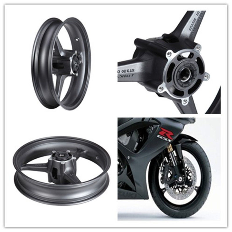 For Suzuki Front Wheel Rim GSXR600 GSXR750 2006-2007 GSXR 600 06 GSXR750 new motorcycle ram air intake tube duct for suzuki gsxr600 gsxr750 2006 2007 k6 abs plastic black