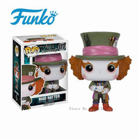 FUNKO POP Alice in Wonderland Mad Hat Action Figure Collection Model Doll Hand Office Decoration Birthday Gift Doll Model