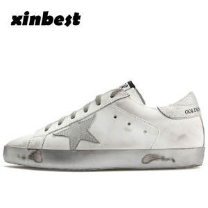 f57c69b4820 Xinbest Genuine Leather Star Sport Shoes For Women With Flat Women  Skateboarding