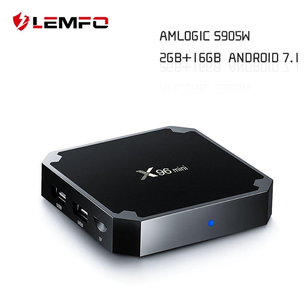 LEMFO X96 Mini Smart TV Box Android 7.1 S905W Quad Core 2GB + 16GB Support 2.4G Wireless WiFi 4K HD AirPlay Set Top Box
