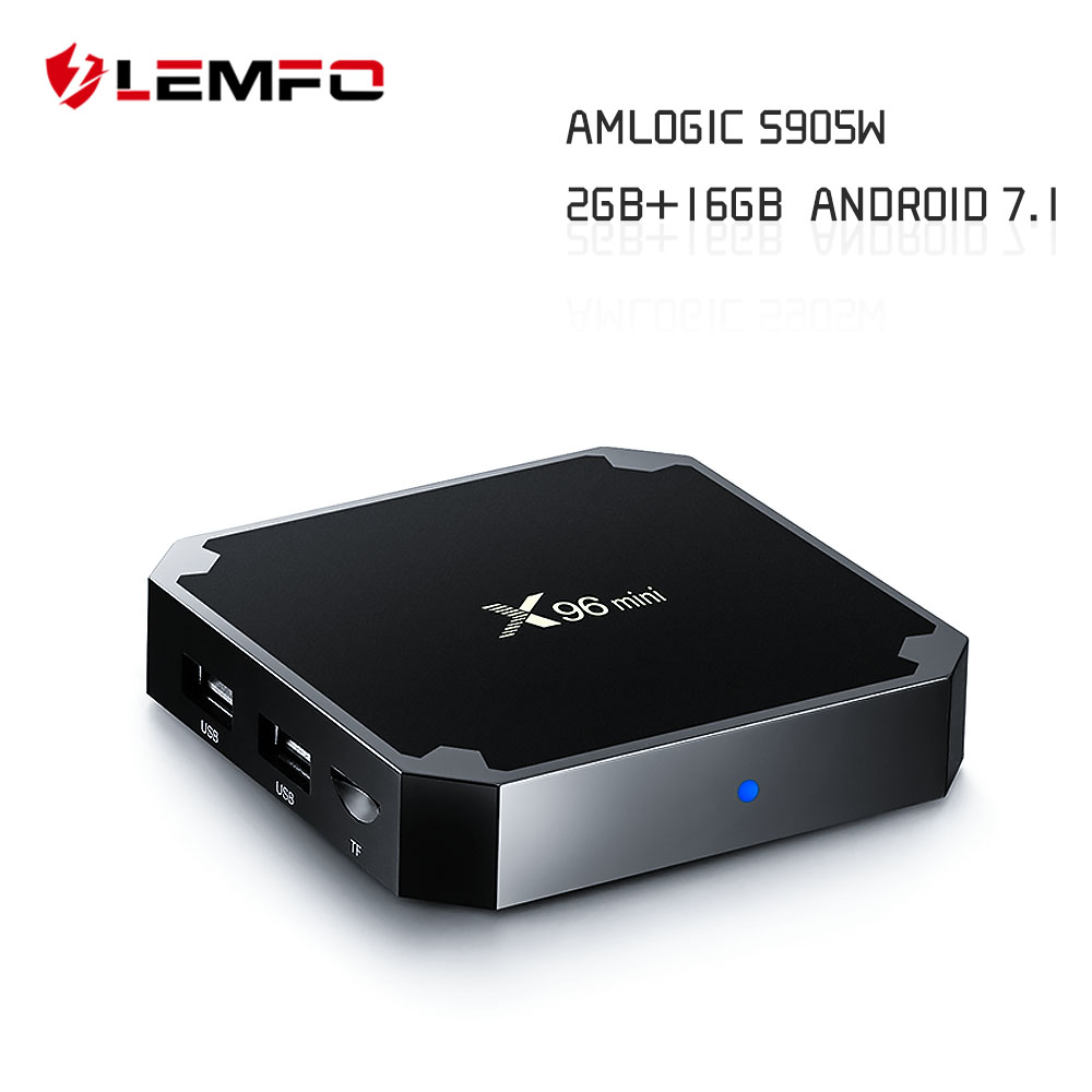LEMFO X96 Mini Smart TV Box Android 7.1 S905W Quad Core 2GB + 16GB Support 2.4G Wireless WiFi 4K HD AirPlay Set Top Box