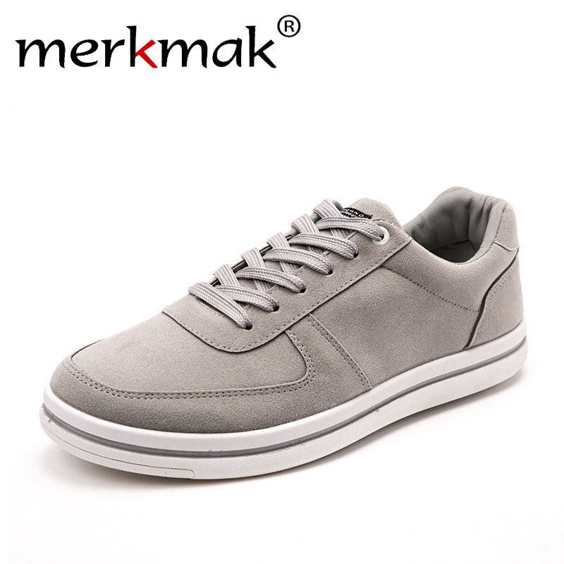 Merkmak Spring New 2017 Casual Shoes Men Leather Shoes Mens Leisure Lace-up Flats Breathable British Style Retro Shoes for Men kredige anti odor zip tide leather shoes hard wearing mens casual shoes pu breathable waterproof plate shoes british style 39 44