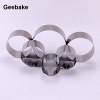 6pcs Set Stainless Steel Dia 6 12cm Cake Mousse Ring Metal Round Cake Roll Mold Kit