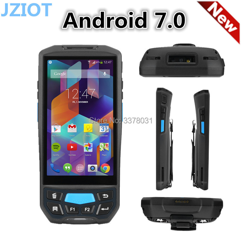 US $292 34 6% OFF|4G Android 7 0 Handheld Bus Ticket Printing Machine With  RFID Reader handheld android pda barcode scanner 2d rugged android pda-in