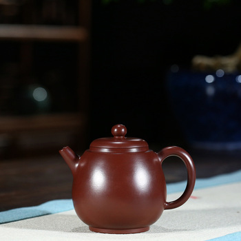 yixing are recommended by the manual undressed ore purple clay zhu round rhyme dragon egg pot of kung fu tea tea set