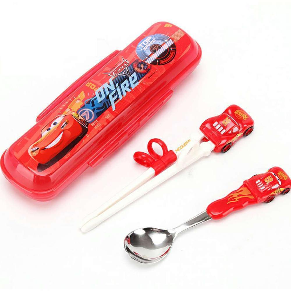 Disney детские палочки для еды мультфильм моделирование учебные палочки для еды обучения палочки для еды Детские вспомогательные палочки для еды коррекция посуда - Цвет: Color1