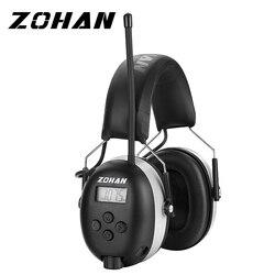 ZOHAN Цифровой AM/FM стерео радио наушники NRR 24dB защита ушей для кошения Профессиональный слуховой протектор радио наушники