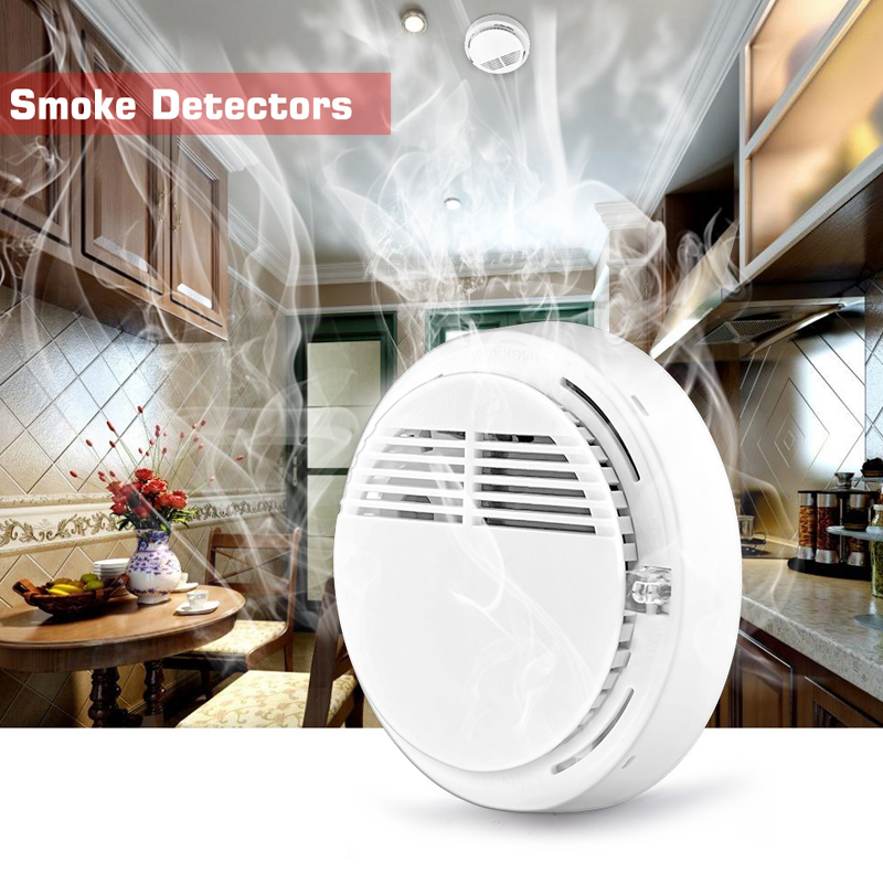 Wireless Alarm Security Smoke Fire Detector/Sensor 433MHz Stable Photoelectric For Home House Office GSM SMS Alarm Systems 433mhz dual network gsm pstn sms house burglar security alarm system fire smoke detector door window sensor kit remote control