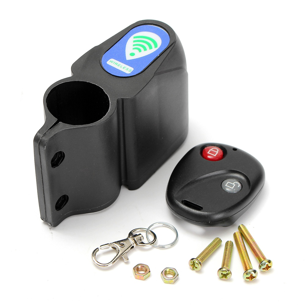 Black Alarm Anti Theft Lock Waterproof with Wireless Remote Control Cycling Bicycle Bike Security 9V Battery Safe Equipment wireless remote control anti theft mtb cycling security audible sound lock guard bike bicycle alarm siren shock vibration sensor