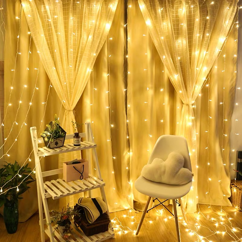 3m LED String Lights Usb Icicle Christmas Fairy Lights Outdoor Home Wedding Party Curtain Garden Decoration Lighted Base Display