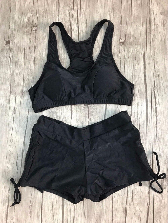 Vintage Two Piece Swimsuit Sexy Әйелдер Басып - Спорттық киім мен керек-жарақтар - фото 6